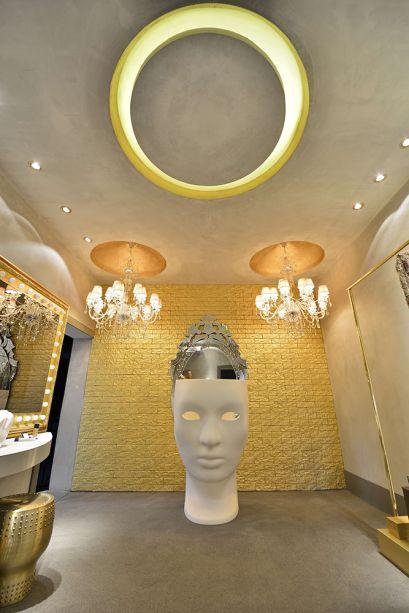 Camarim da Diva - Suellen Ribeiro. O destaque é a cadeira Nemo Mask, ícone da marca italiana Dríade.