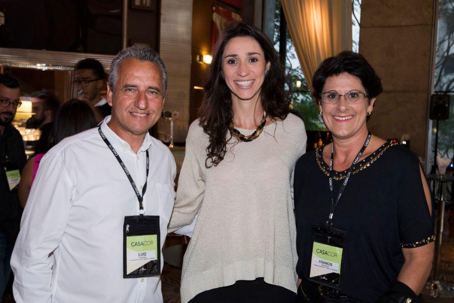 Luiz Bernardo, Graziela De Caroli e Francis Bernardo