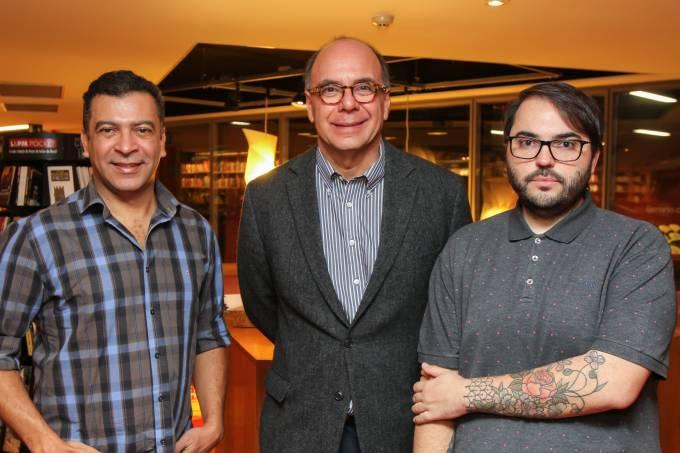Pedro Ariel Santana, Arnaldo Danemberg e Aldi Flosi, palestrantes da manhã