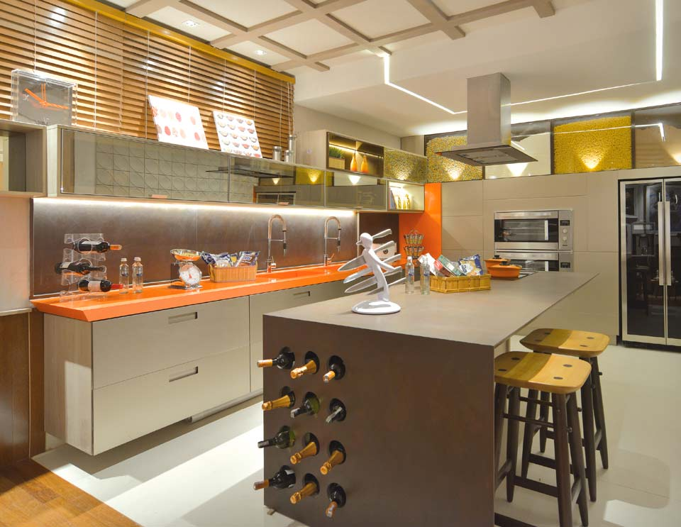 Cozinha e Sala de Almoço. Naiana Lima e Priscilla Ximenes