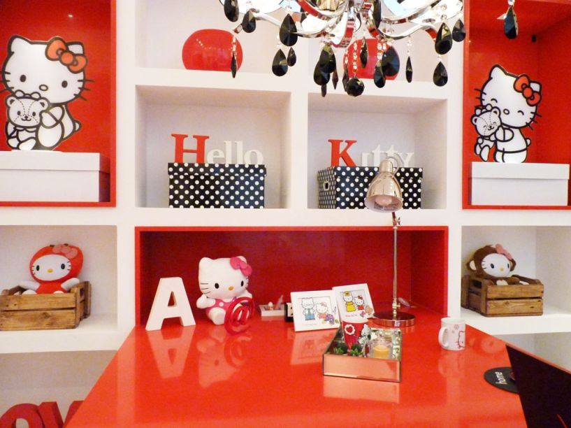 Andrea Ponte – ambiente: Atelier da Menina, todo decorado com a Hello Kitty.