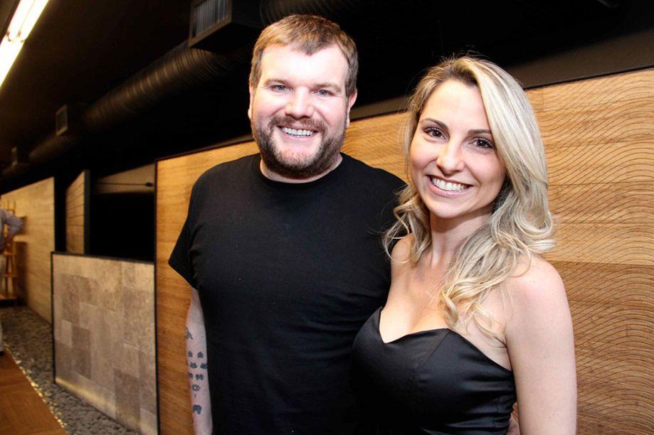 Guilherme Torres e Francine Ferrari.