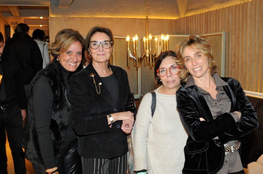 MONICA NOVAES, CRIS FERRAZ, ELIANA SRAJZER E FRANCESCA ALZATI