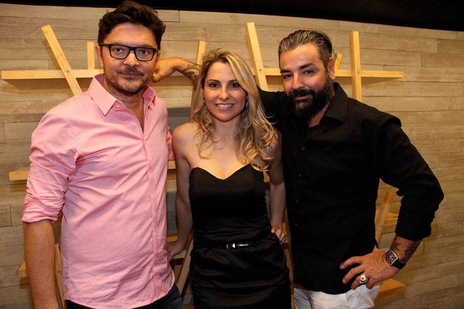 Paulo Alves, Francine Ferrari e Marco Aurélio Neri.