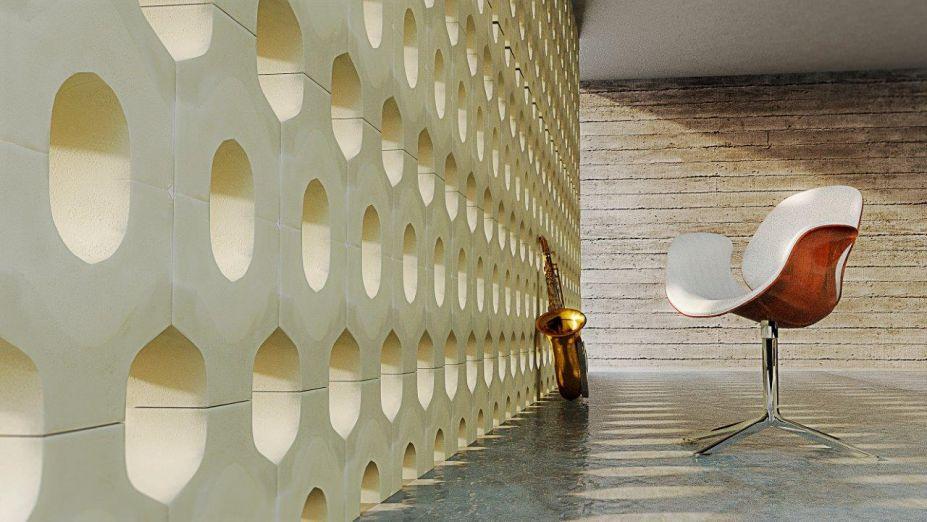 Da Coleção Cemento, a <strong>Nina Martinelli</strong> vai levar para a 15ª Expo Revestir cobogós feitos em concreto arquitetônico que seguem a tendência industrial. Inspirado nos arcos do Coliseu, situado em Roma, o Cobogó Coliseu é imponente, oferece estilo industrial e um toque vintage ao ambiente.