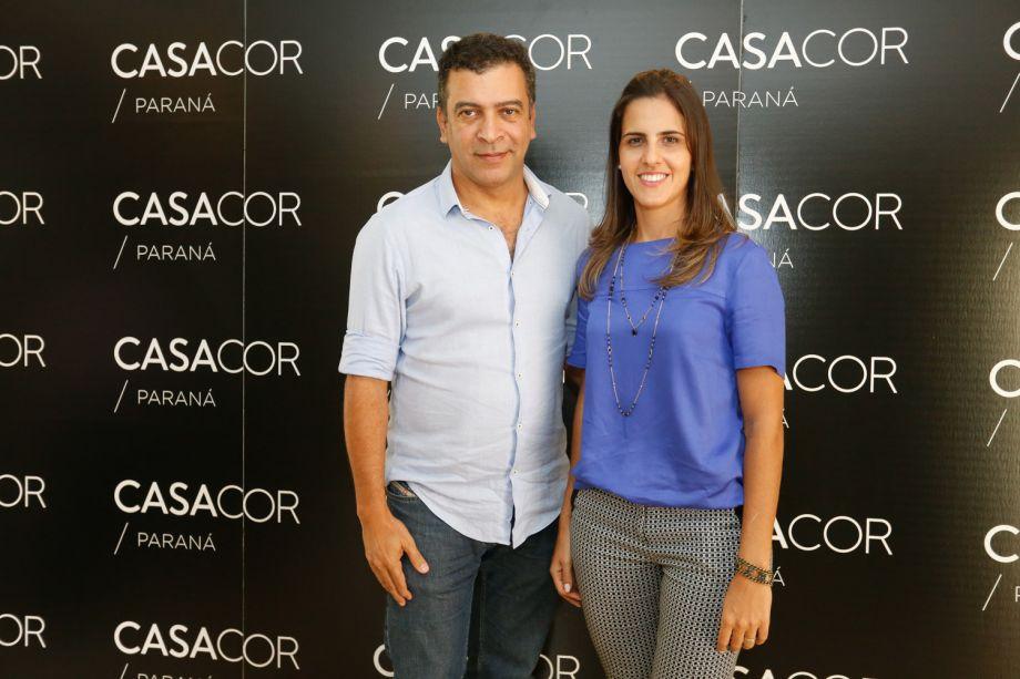 Pedro Ariel e Fabiola Molteni, coordenadora de Comunicação e Promoção da Arauco