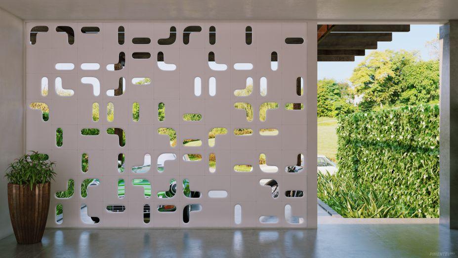 O designer Zanini de Zanine assina a linha Cobogó Leno da Solarium. Com três elegantes e diferentes elementos, a coleção permite paginação de acordo com cada projeto.