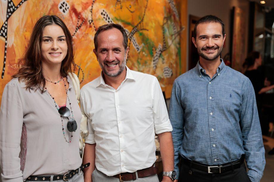 Cristine Cervo, Luiz Setinger e Guilherme Cabral