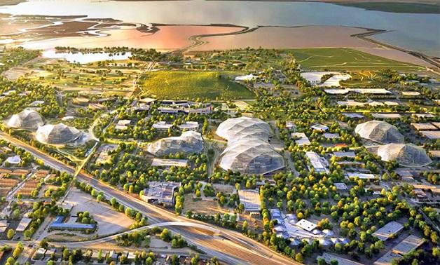 Nova sede do Google vista de cima