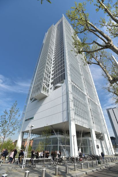 Vista do prédio projetado pelo arquiteto Renzo Piano
