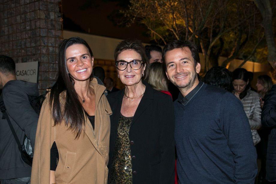 Juliana Braga, Cristina Ferraz e Luiz Fernando Braga