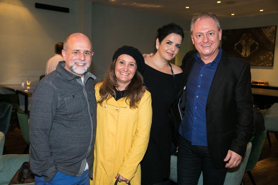 Maurício Siqueira, Adriana Fontana, Cristiane Calixto e Maurício Calixto