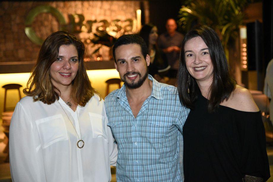 Saula Sebba, Carlos Leão e Cristiane Melo