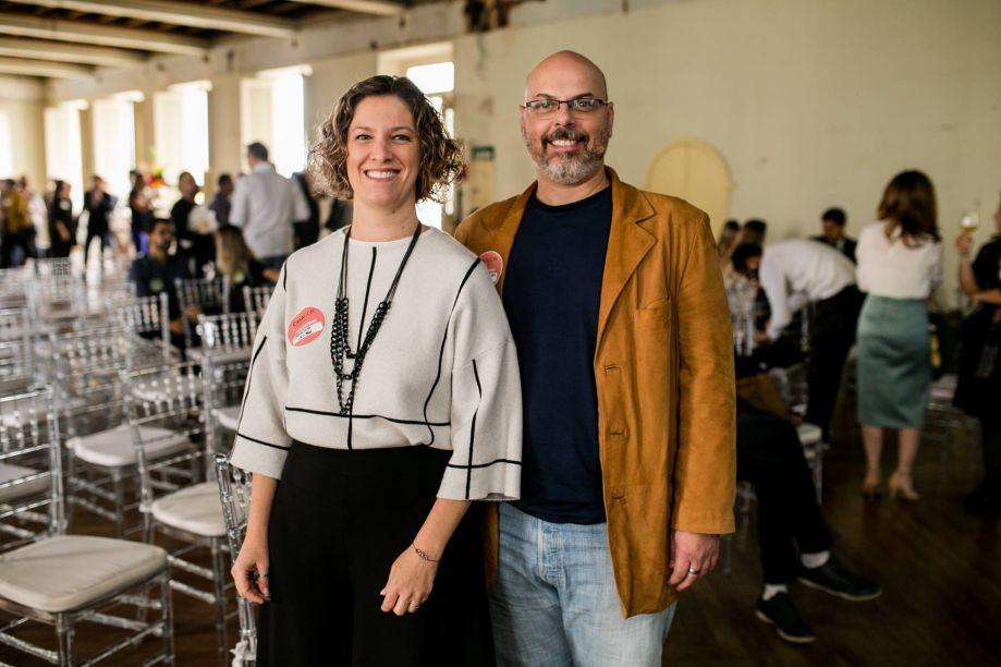 Carol Marra, vice-reitora e Christiano Otoni, coordenador do curso de Arquitetura do Centro Universitário UniBH