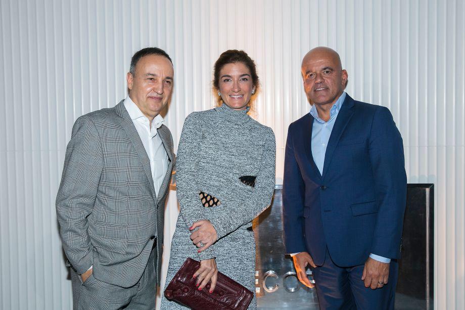 Rogério Longone, Marina Linhares e Edson Gaidzinski