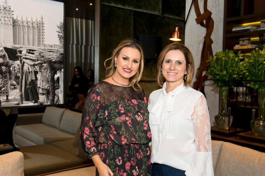 Samara Barbosa, que assina o espaço Home Theater, e a artista plástica Marilene Ropelato