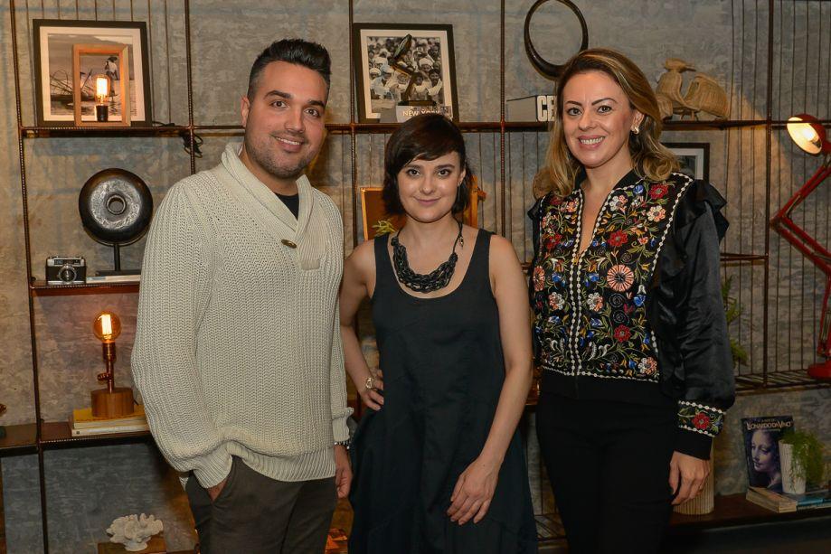 Designer de interiores Phillippe Siarcos, Renata Moura e Ana Claudia Guerra