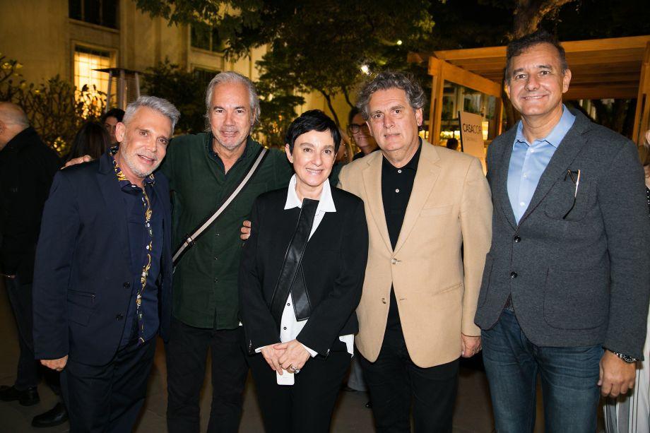 Leo Shehtman, Tuca Reinés, Livia Pedreira, Angelo Derenze e Olegario Sá