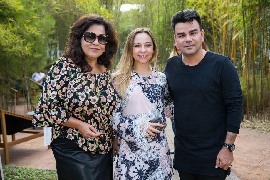 Claudia Zuppane, Marcia Carini e Nando Nunes