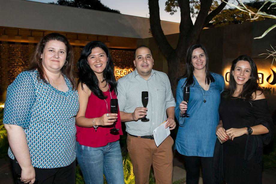 Fátima Barnabe, Michela Sakihama, Rafael Halada, Ana Paula Donizette e Grace Gomes
