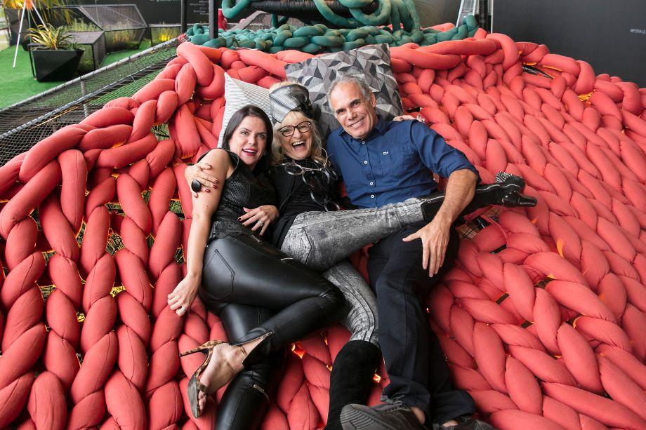 Juliana Sicoli, Gina Elimelek e Luiz Carlos Orsini