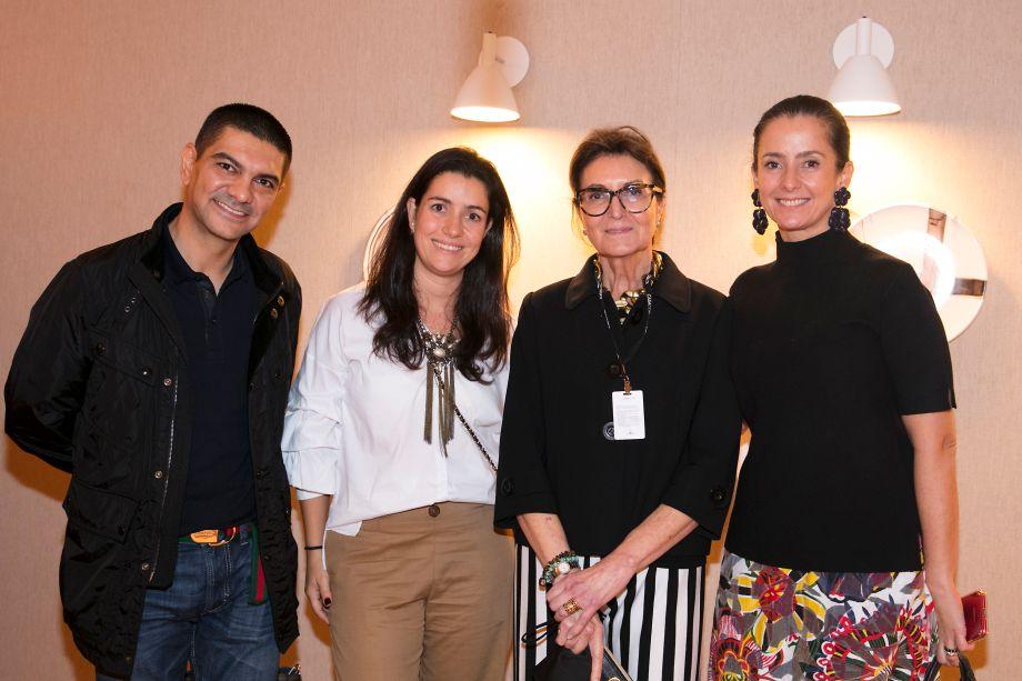 Claudio Costa, Renata Marques, Cristina Ferraz e Luciana Izzo