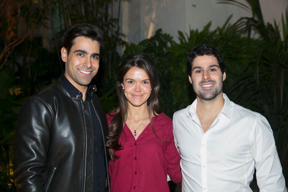 Alexandre Dal Fabbro, Mariana Dávila e Felipe Ferraz