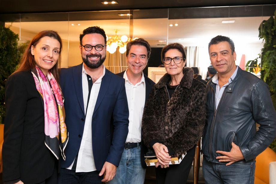 Cris Bava, Bruno Carvalho, Marcelo Felmanas, Cristina Ferraz e Pedro Ariel Santana