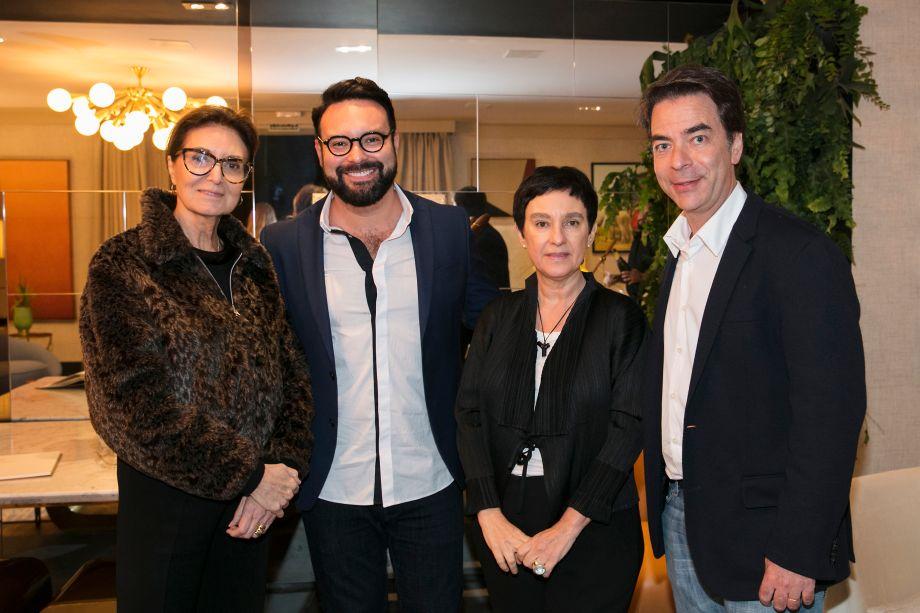 Cristina Ferraz, Bruno Carvalho, Livia Pedreira e Marcelo Felmanas