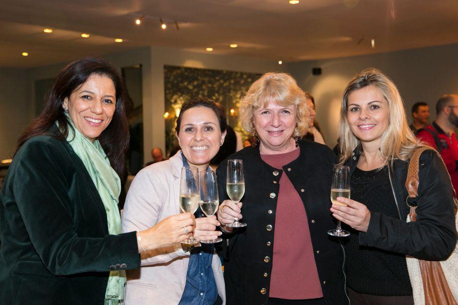 Cleide Gomes, Miriam Germano, Cristina Moraes e Cida Rogiero