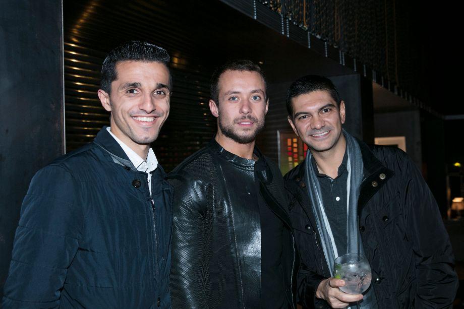 Nasser Mohamed, Gustavo Neves e Claudio Costa