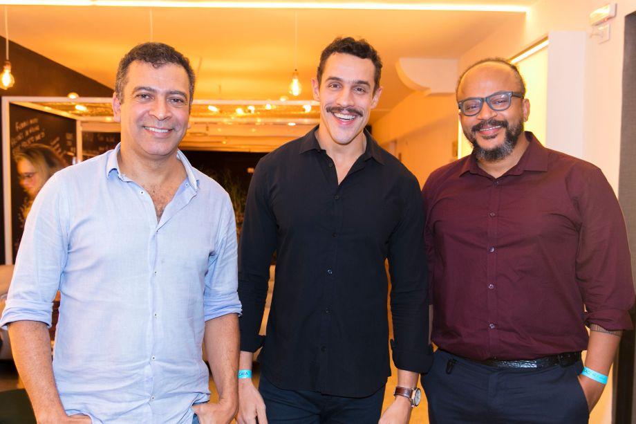 Pedro Ariel, Alexandre Sales e Bruno Pompeu