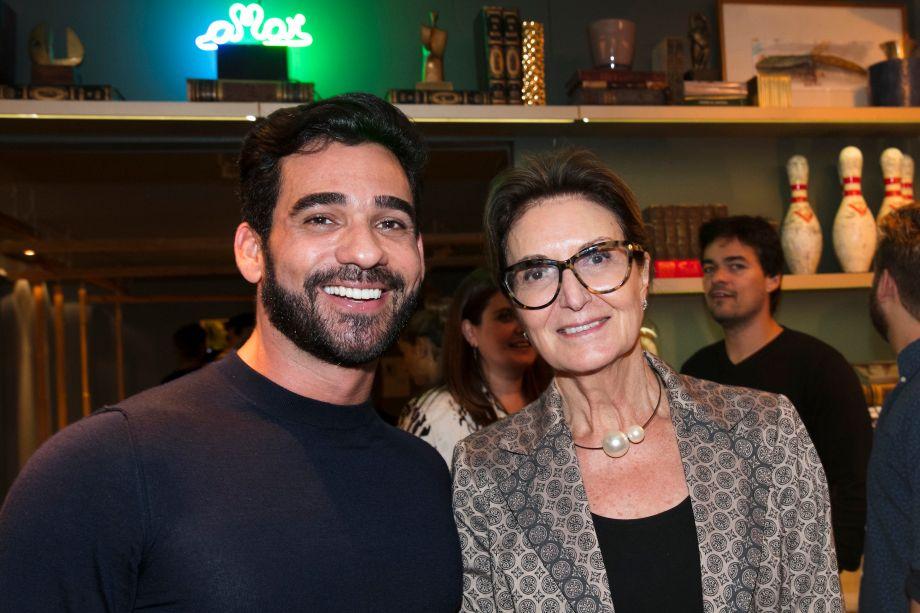 Marlon Gama e Cristina Ferraz
