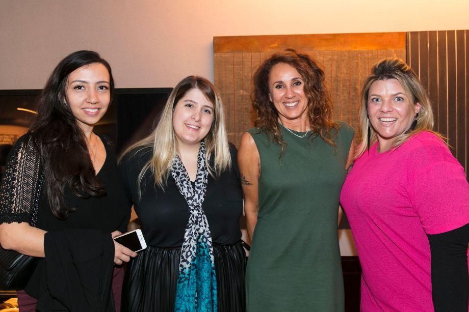 Nathália Candelária, Jéssica Adan, Monica Barbosa e Giselle Martos