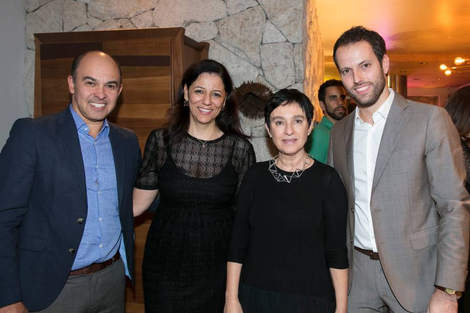 Edson Busin, Cleide Gomes, Livia Pedreira e Thiago Breseghillo