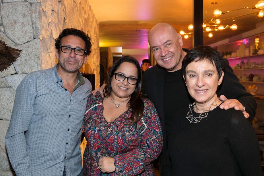 Amauri Gonçalves, Simone Gonçalves, Gilberto Cioni e Livia Pedreira