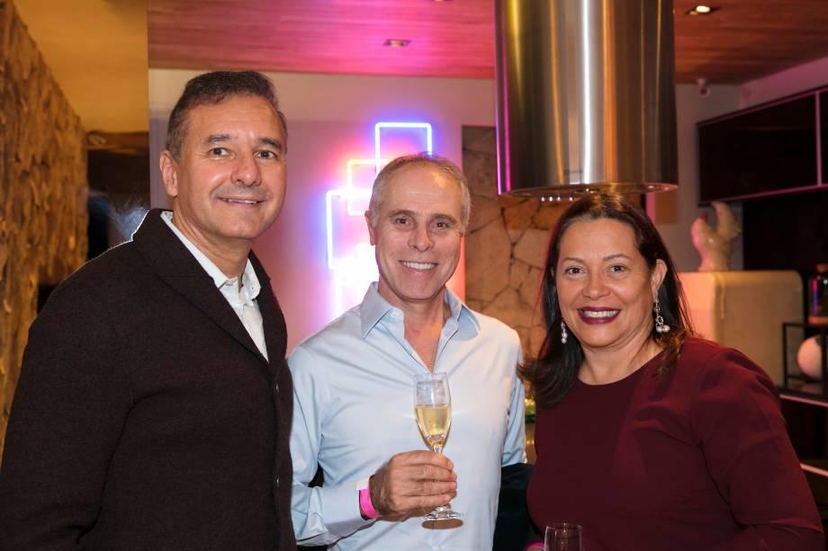Olegário de Sá, Sergio Teixeira Pinto e Marília Teixeira Pinto