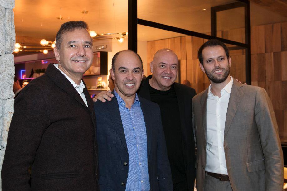 Olegário de Sá, Edson Busin, Gilberto Cioni e Thiago Breseghillo