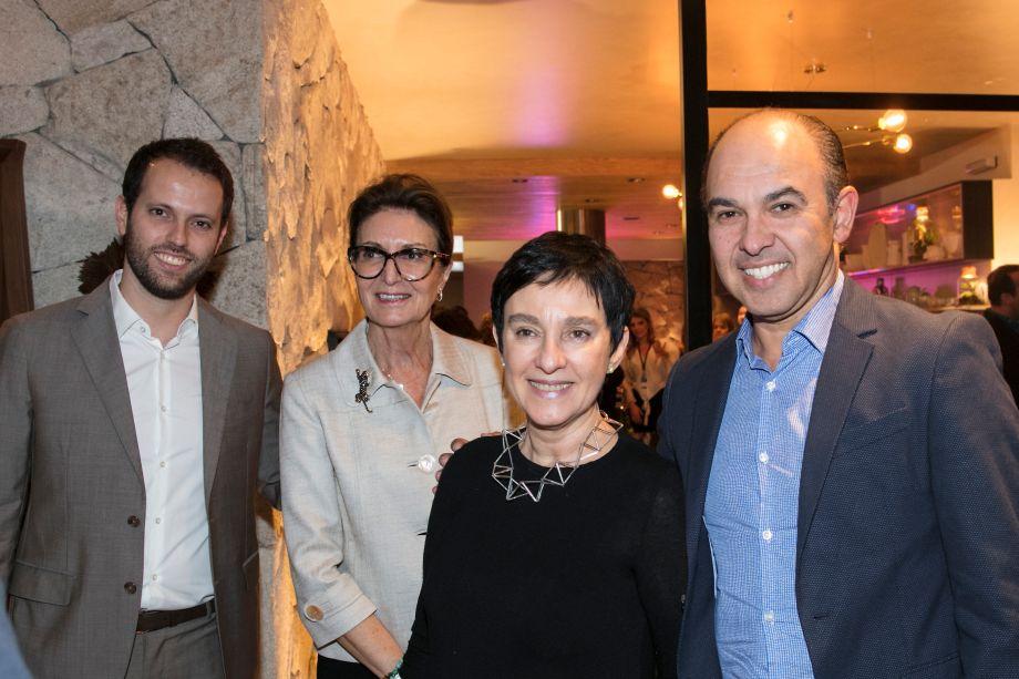 Thiago Breseghillo, Cris Ferraz, Livia Pedreira e Edson Busin