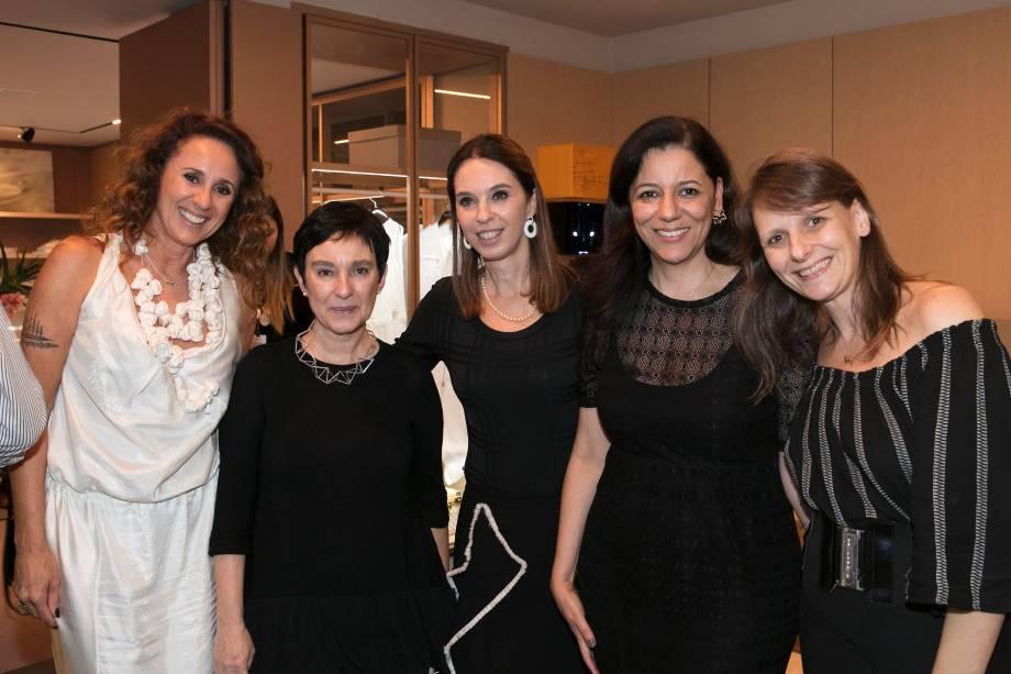 Monica Barbosa, Livia Pedreira, Esther Schattan, Cleide Gomes e Sandra Junqueira