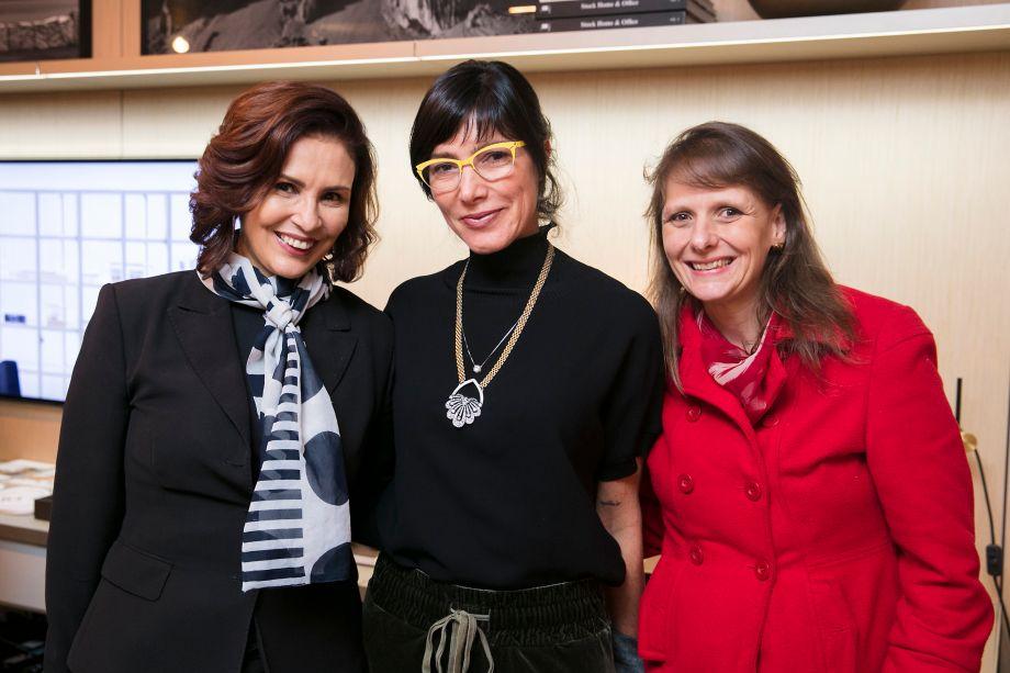 Claudia Manhães, Andrea Bisker e Sandra Junqueira