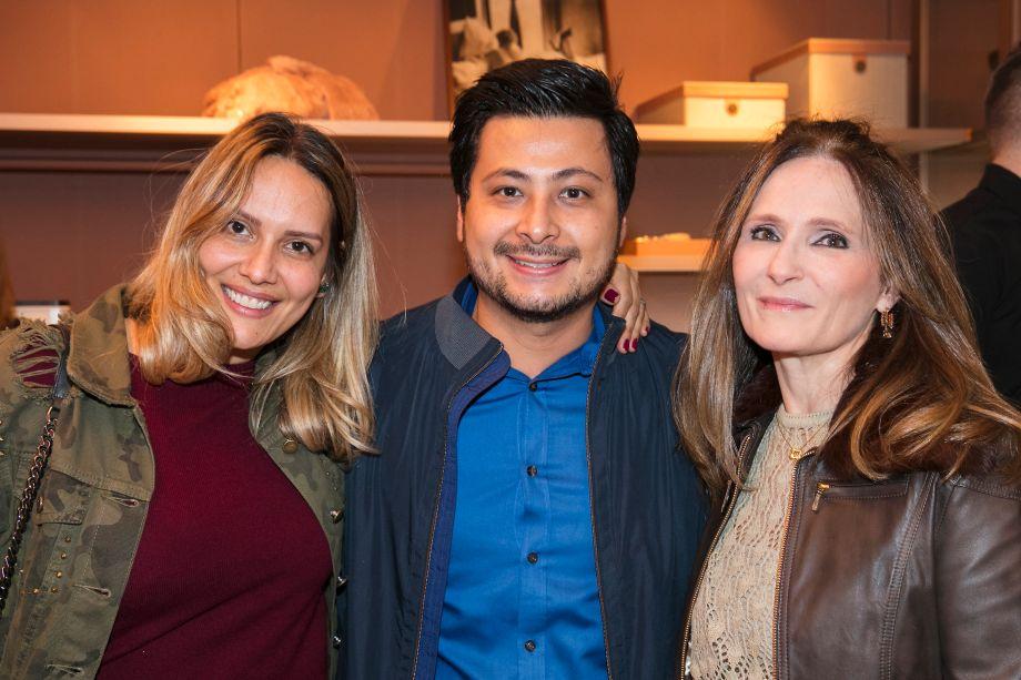 Clariça Lima, Terion Harano e Sandra Pini