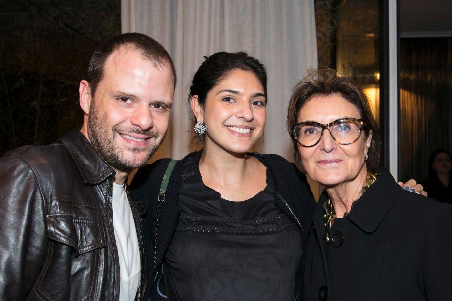 Otavio Debeus, Isabela Scaff e Cristina Ferraz