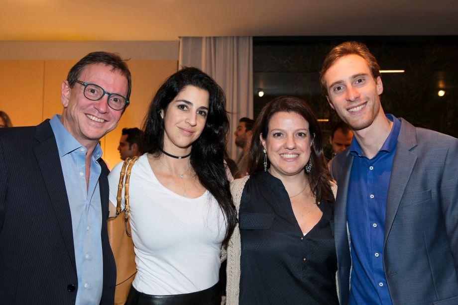 Murillo Schattan, Fernanda Ngrelli, Andrea Teixeira e Stefan Schattan
