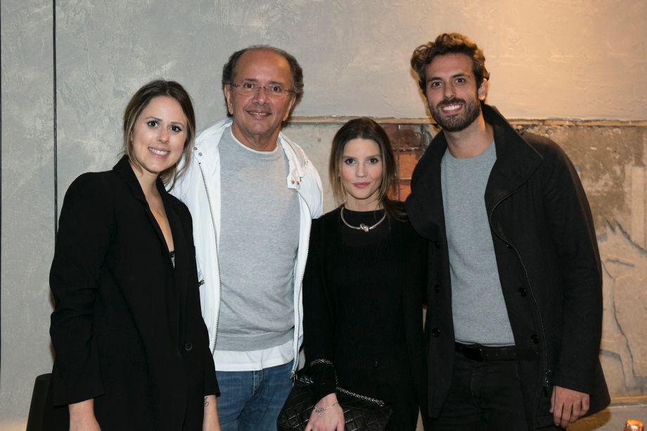 Kika Mattos, David Bastos, Marcela Penteado e André Bacalov