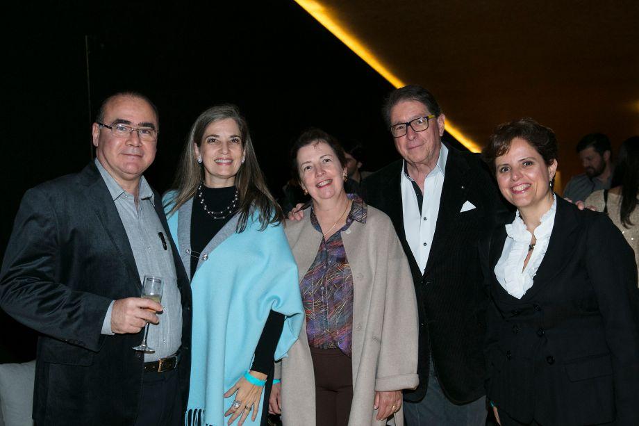 Fabio Campos, Clarisse Campos, Maristela Ribeiro, Carlos Tancredi e Maria Silvia Barreto