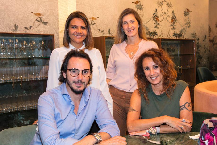 Luana Mattos, Maria Fernanda Piti, Ricardo Pessuto e Monica Barbosa