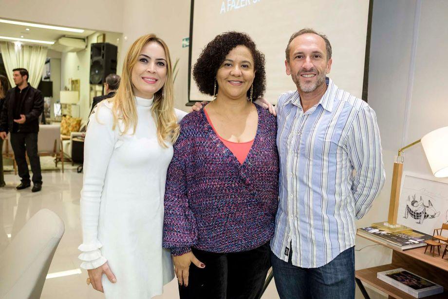 Diretoras da CASACOR MS, Tatiana Ratier, Dilma Bernardes e Denilson Machado