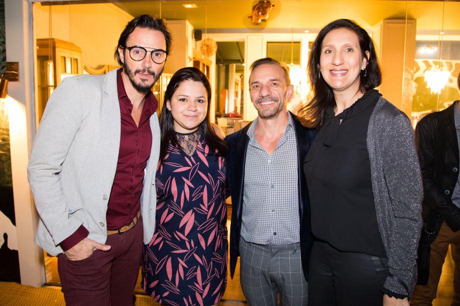 Ricardo Pessuto, Raquel Carvalho, José Marton e Fernanda Gibeli