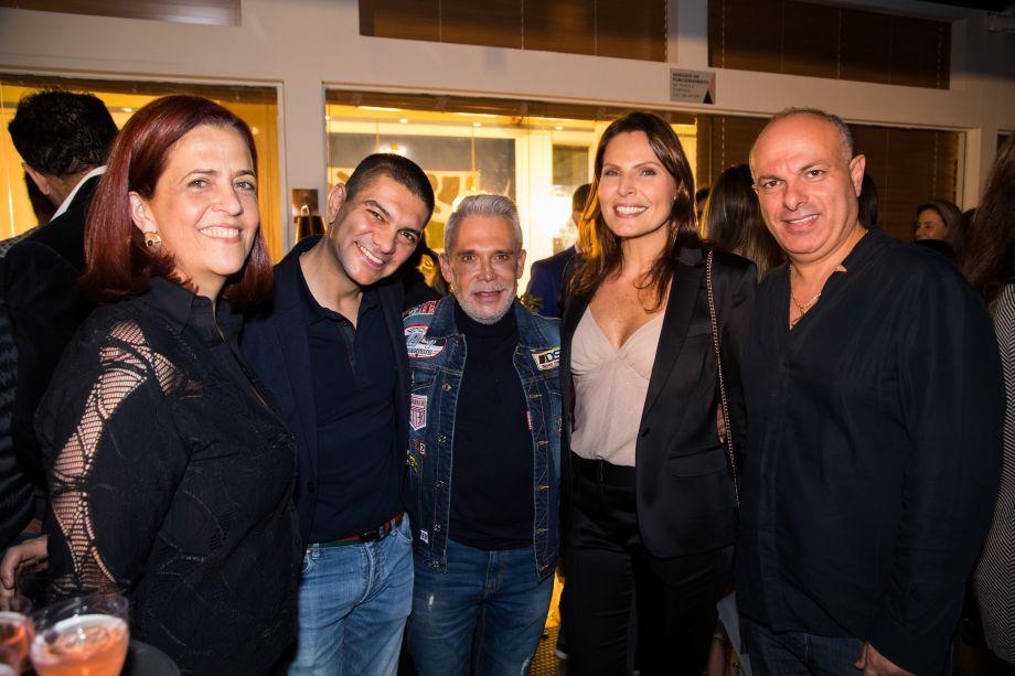 Paula Lima, Cláudio Costa, Léo Shehtman, Laura Müller e Ali Majzoub